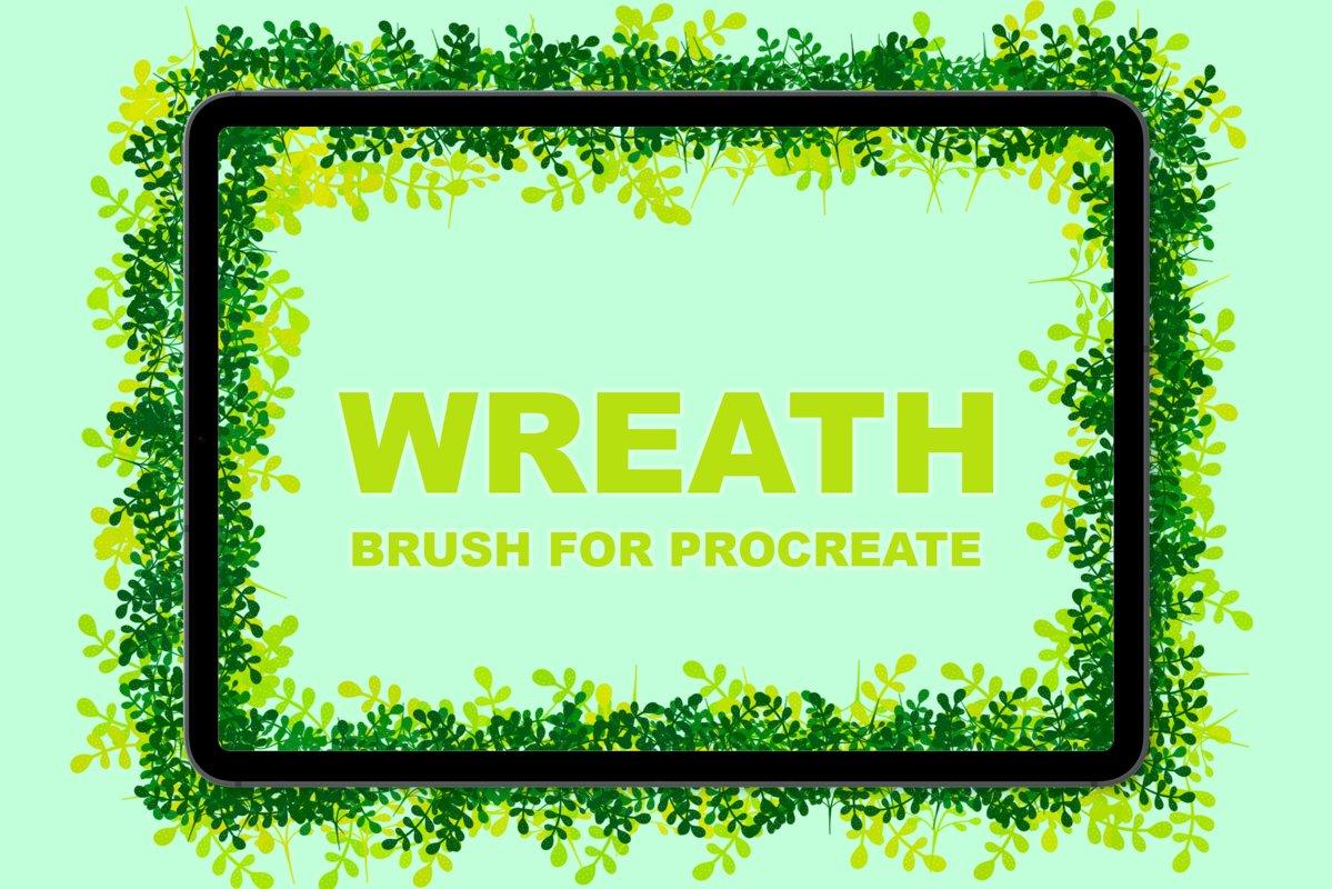 Wreath brush for procreate example image 1