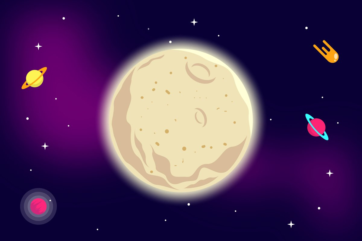 Moon Illustrations example image 1