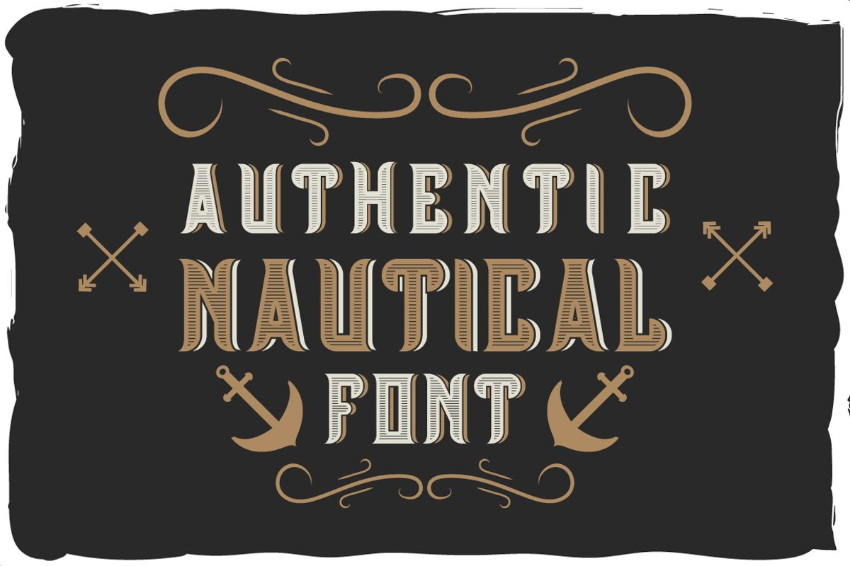 Authentic nautical typeface example image 1
