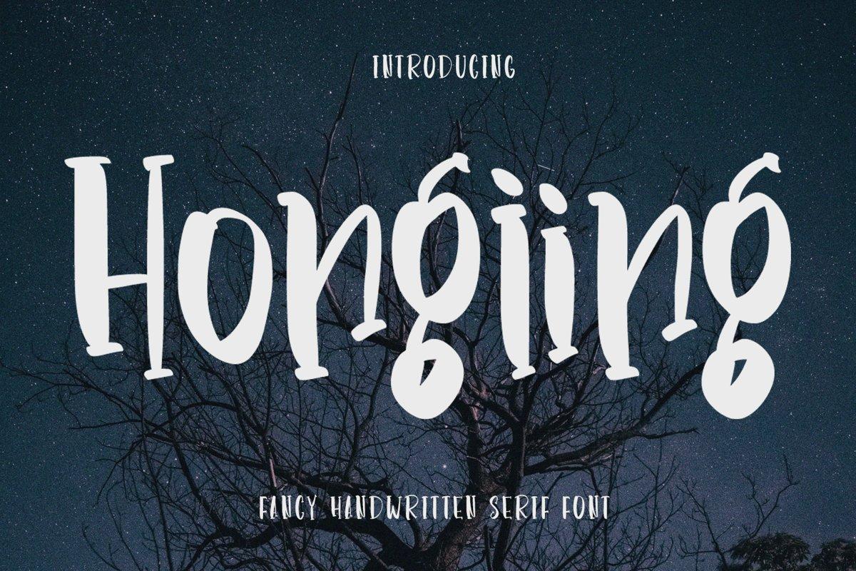 Hongiing - Fancy Handwritten Serif Font example image 1