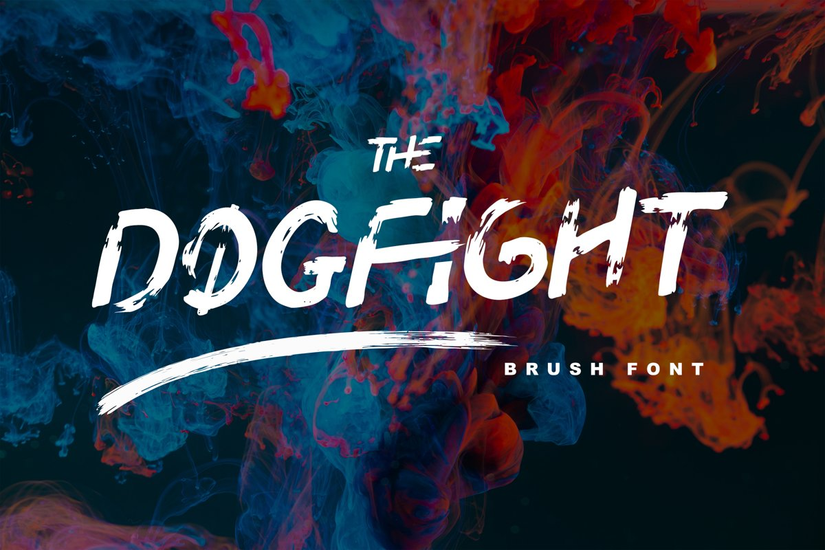 DOGFIGHT - Strong and Bold Brush Font example image 1