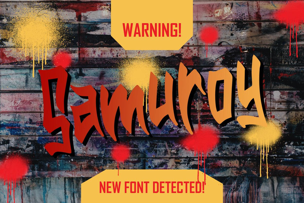 Samuroy - Display Fonts example image 1