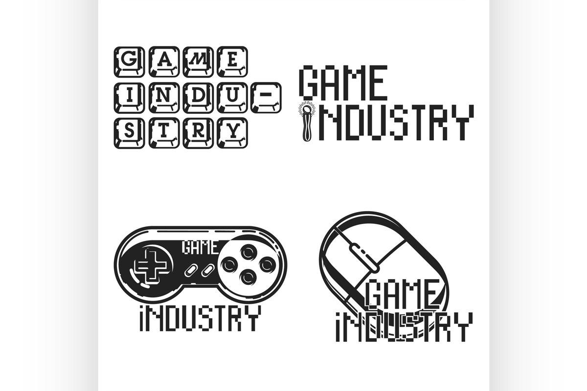 Vintage game industry emblems example image 1