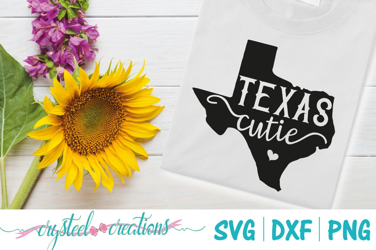 TEXAS Cutie SVG, PNG, DXF example image 1