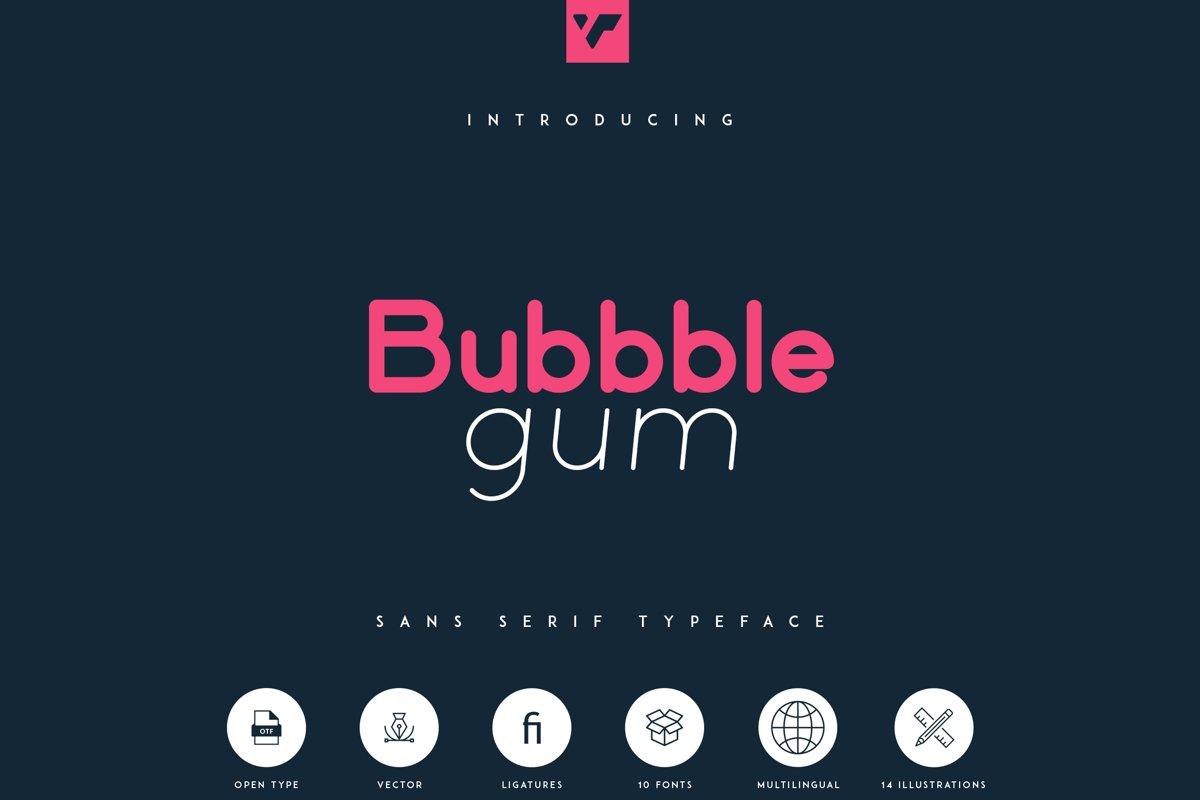 Bubbble Gum - sans serif typeface example image 1