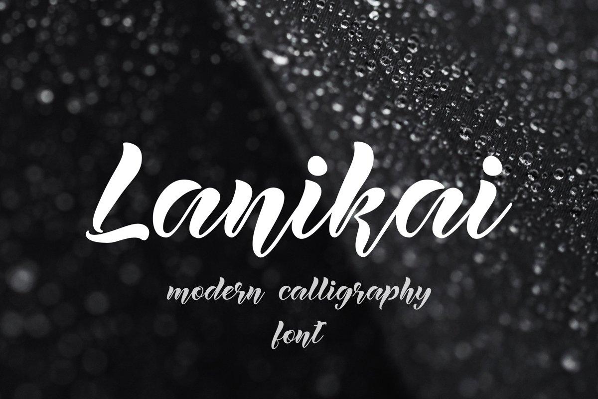 Lanikai - calligraphy script font example image 1
