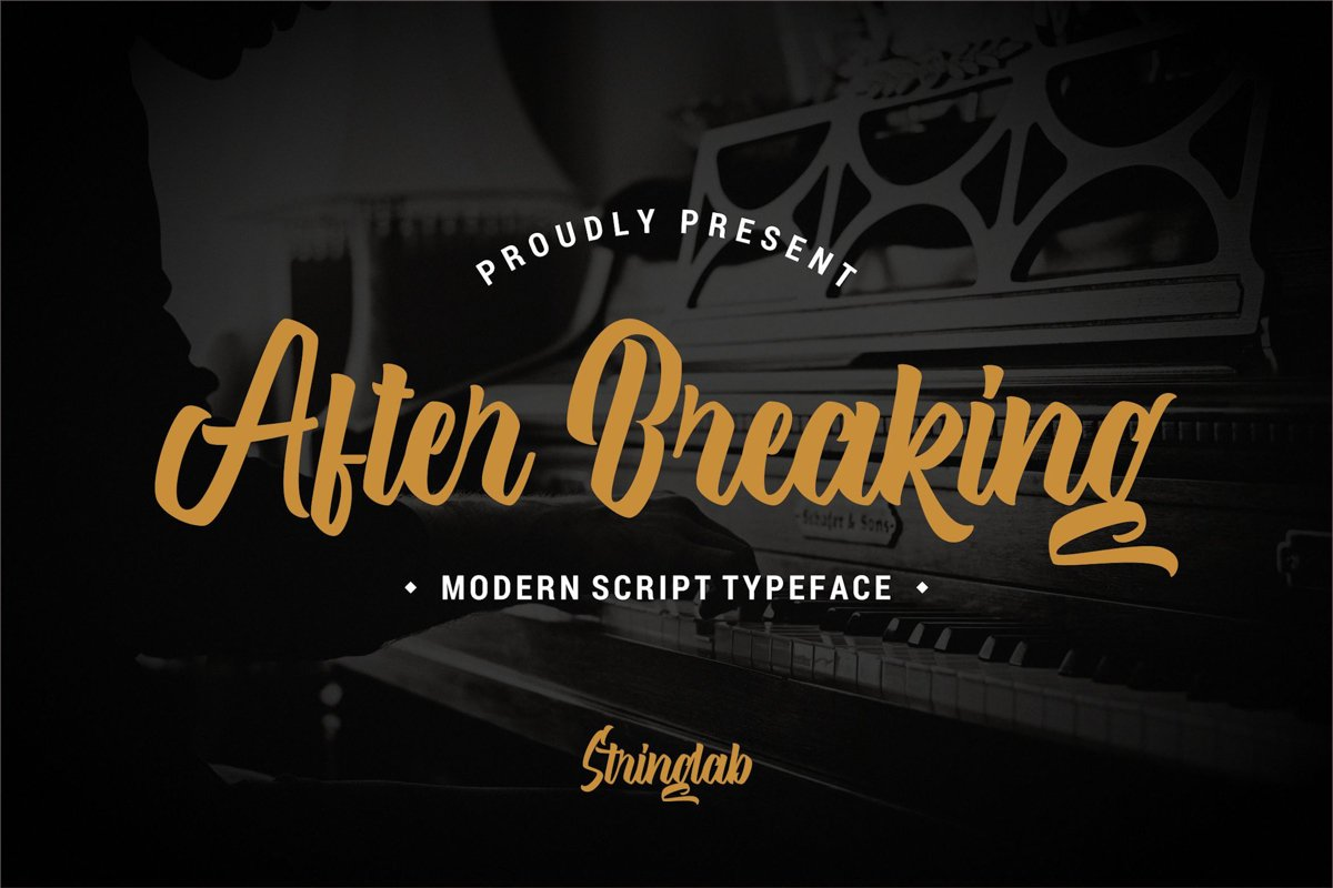 After Breaking - Modern Script Font example image 1