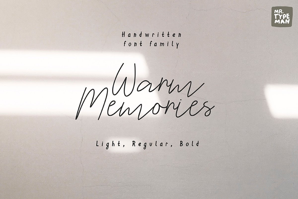 Warm Memories | Multilingual Script Font Trio example image 1