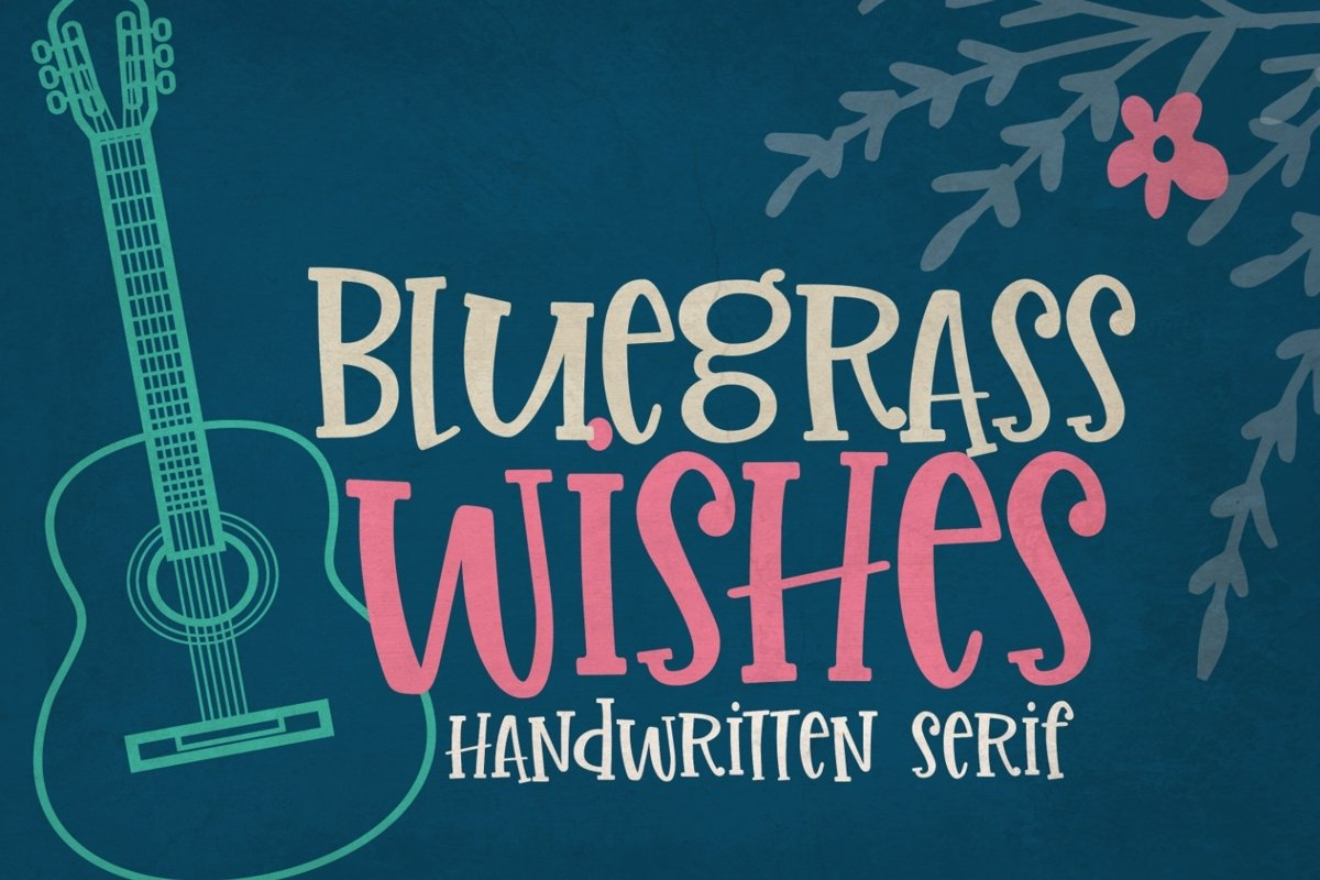 Bluegrass Wishes | Crafter Friendly Font example image 1