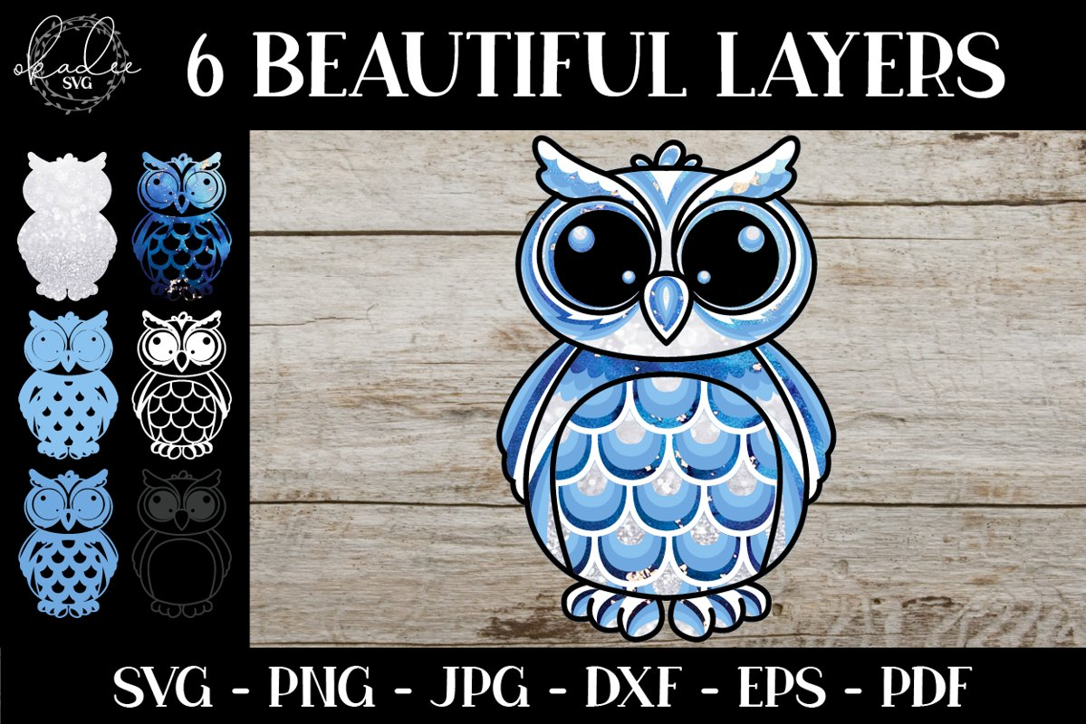 53+ Layered Owl Mandala Svg – SVG,PNG,DXF,EPS include