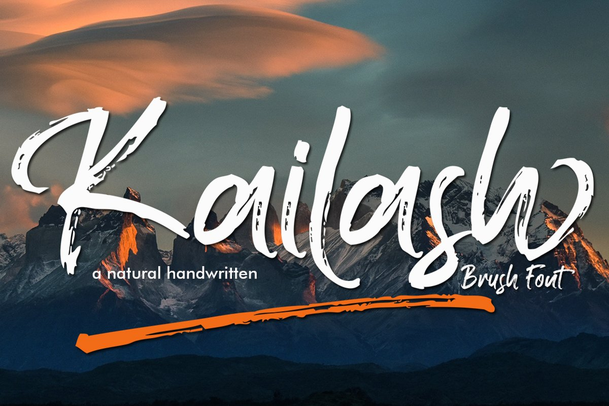 Kailash - Brush Font example image 1