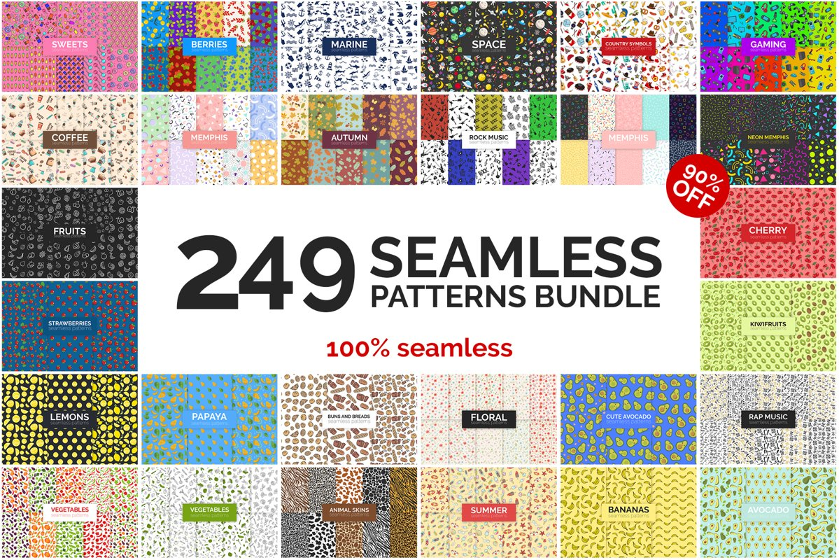 249 Seamless Patterns Bundle example image 1