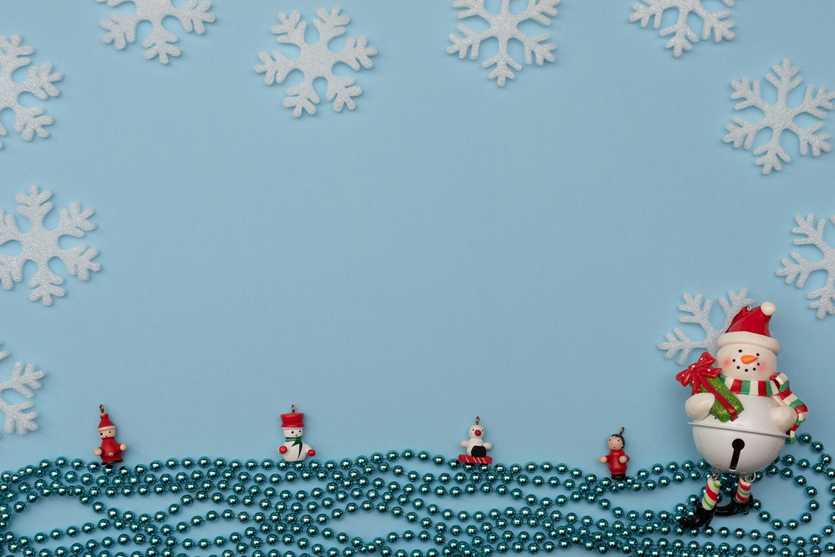 Christmas decorations and white snowflakes. example image 1