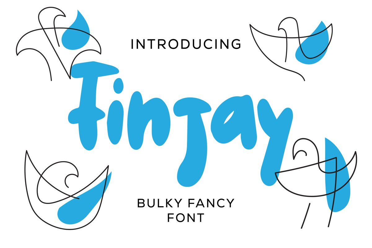 Finjay - Bulky Fancy Font example image 1