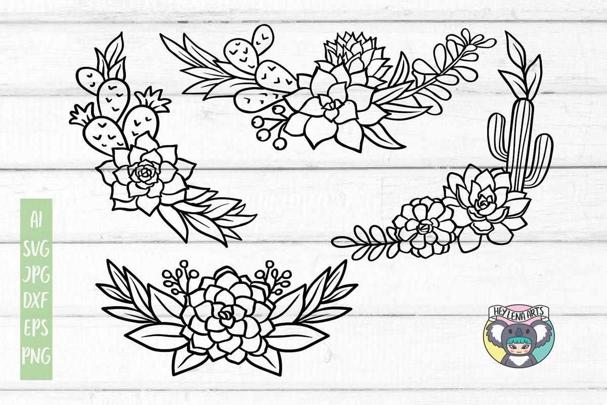 Cactus svg, Succulent svg, Bundle, Cricut Cut Files example image 1