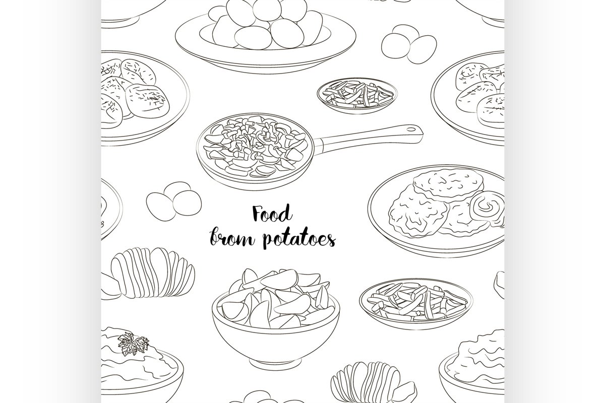Food from potatoes pattern example image 1