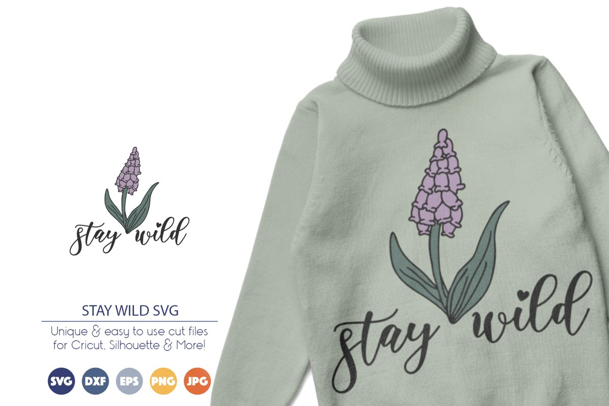 Wildflower SVG   Stay Wild SVG example image 1