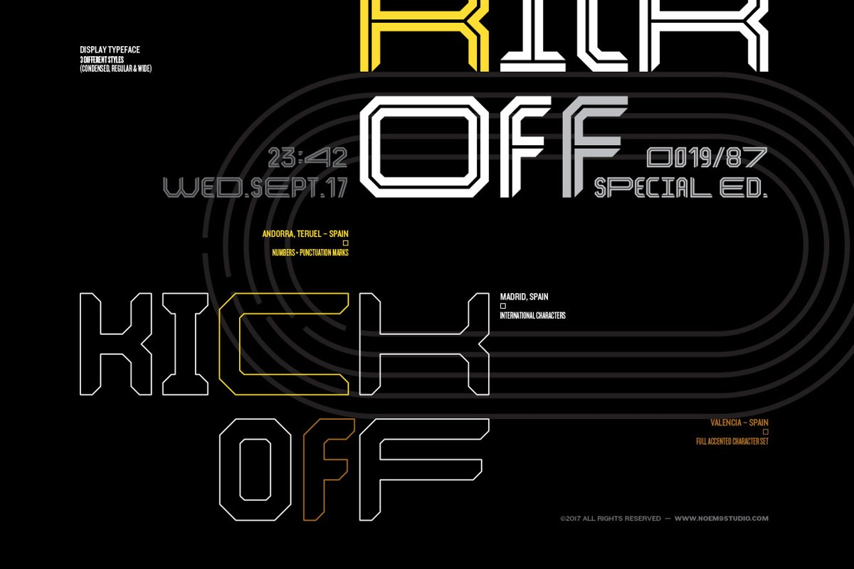Kickoff Font Family example image 1