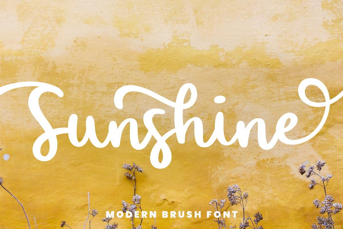 Sunshine I A Brush Script Font example image 1