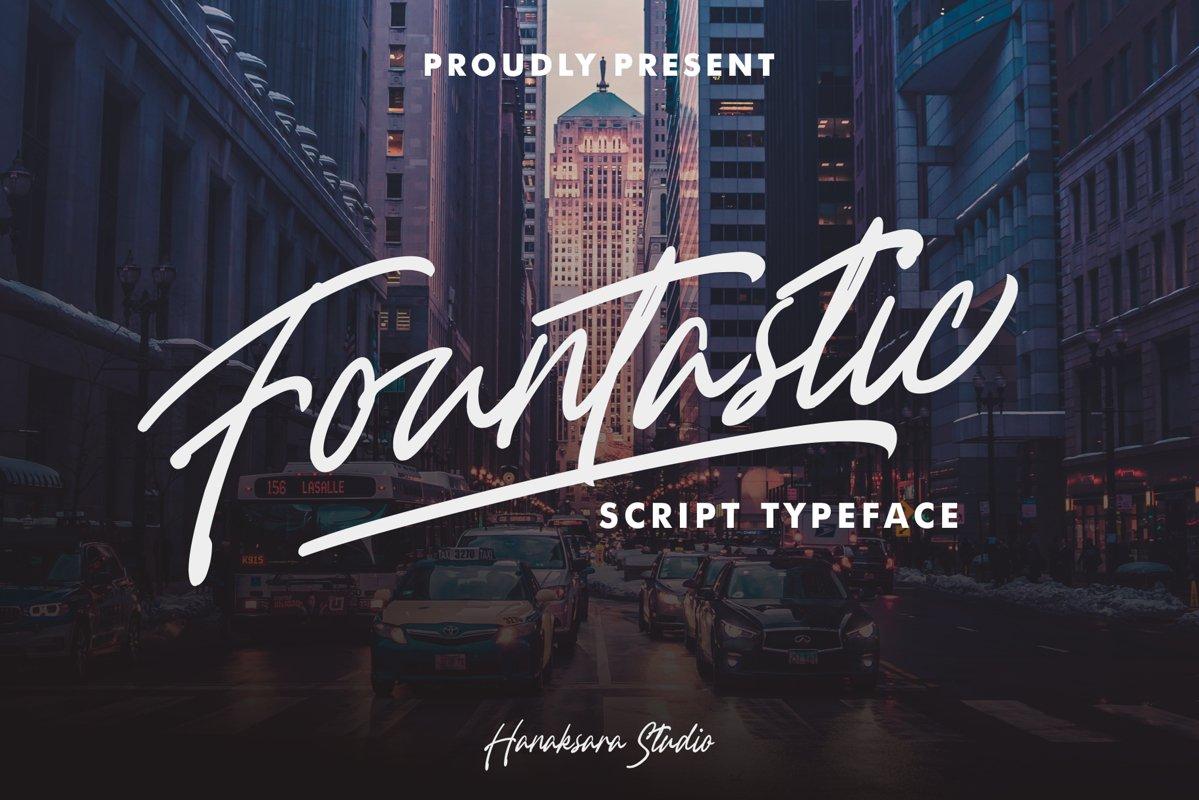 Fountastic Script Typeface example image 1