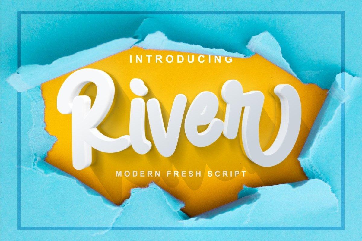 River - Modern Fresh Script example image 1