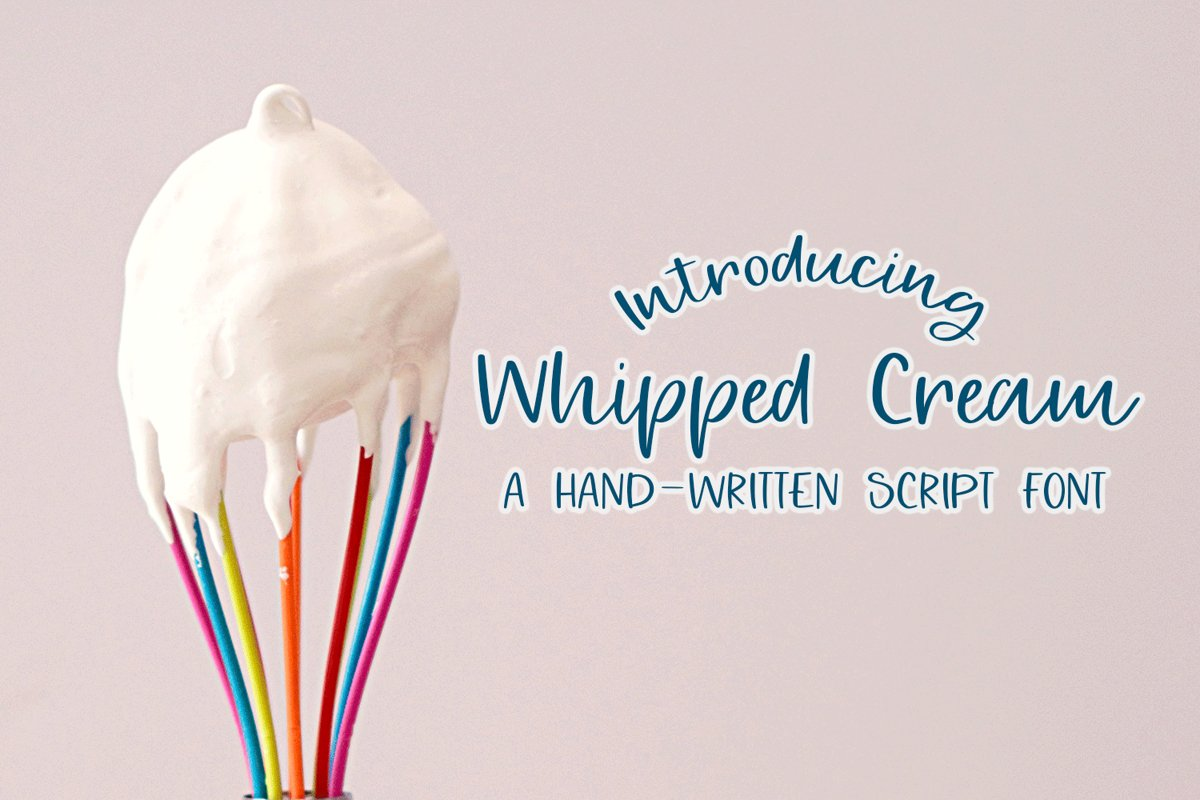 Whipped Cream - A Hand-Written Script Font example image 1