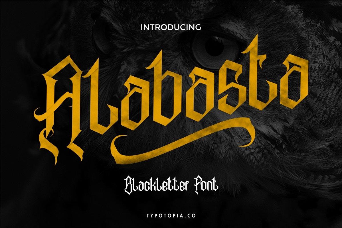 Alabasta - The Blackletter Font example image 1