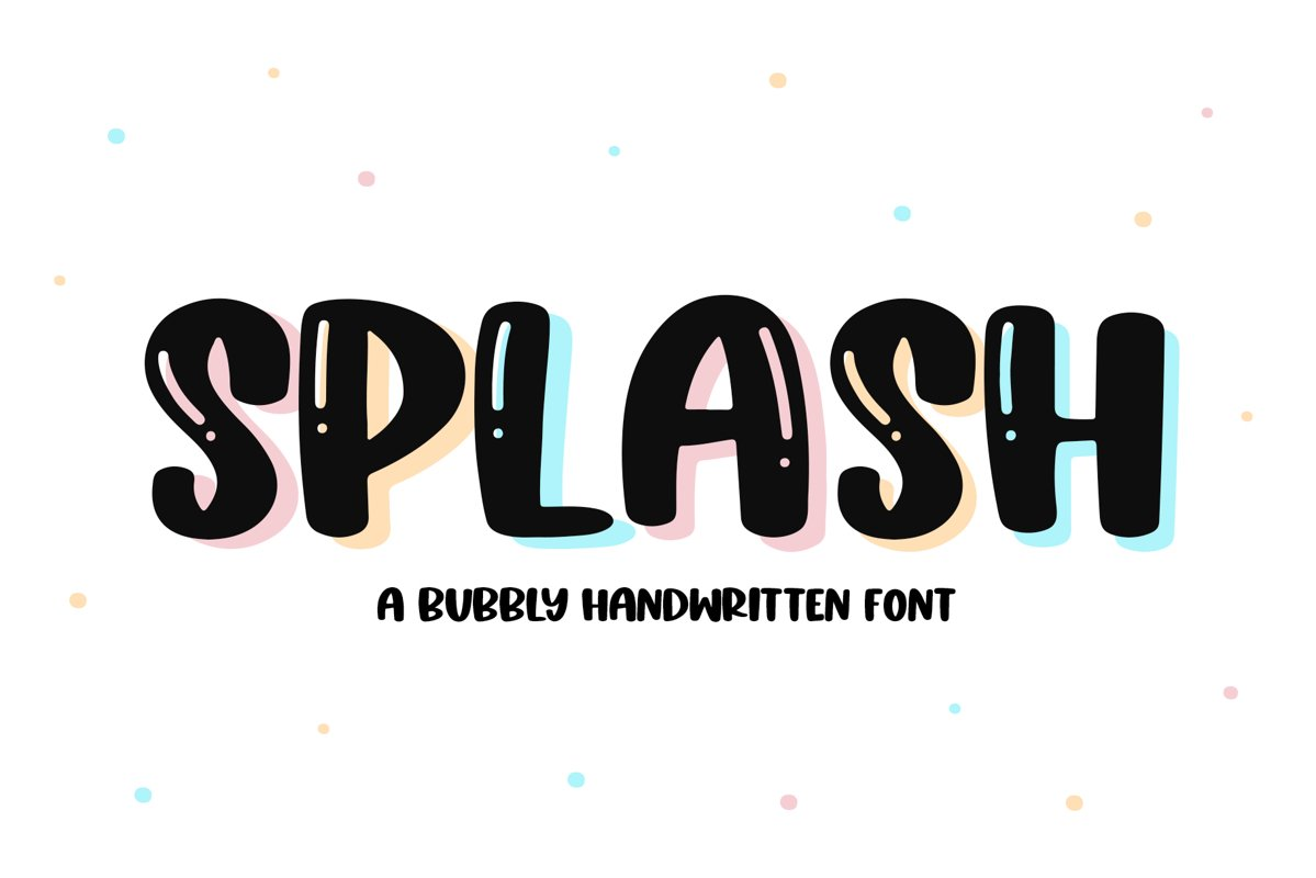 Splash - A Fun Handwritten Font example image 1
