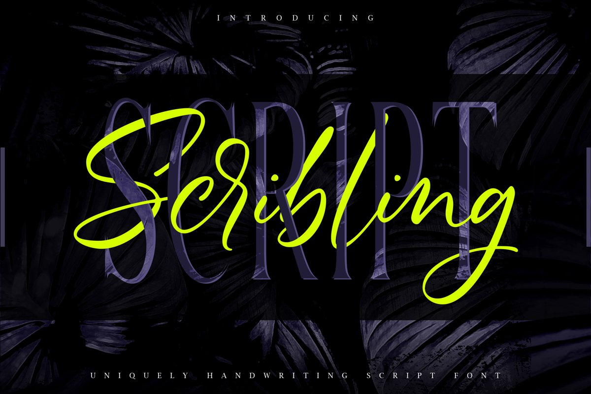 Scribbling | Uniquely Handwriting Script Font example image 1
