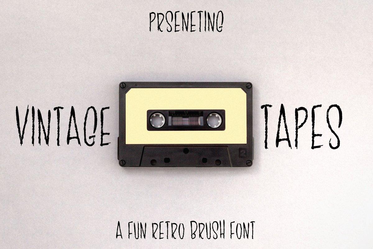 Vintage Tape - Retro Brush Font example image 1