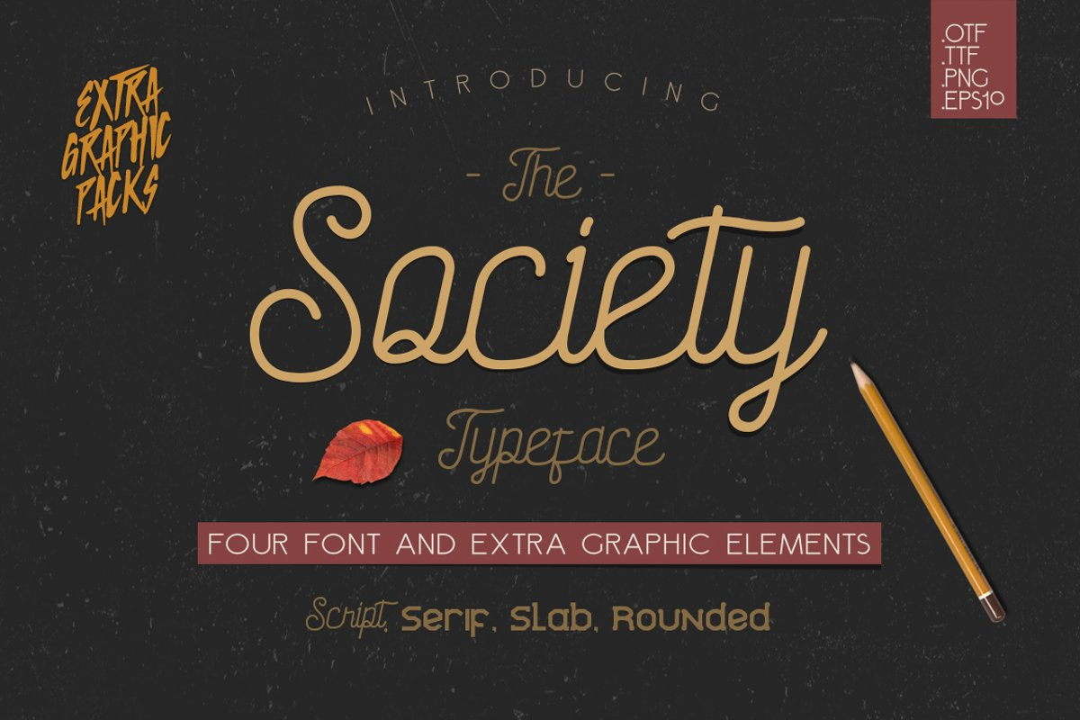 Society Typeface - 4th Font! example image 1
