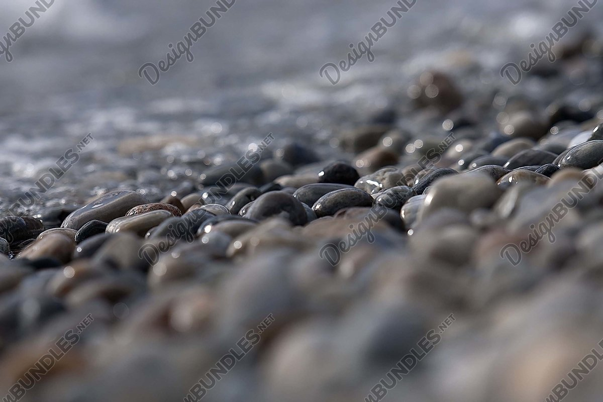 Stock Photo - Surface Level Of Pebble Beach example image 1