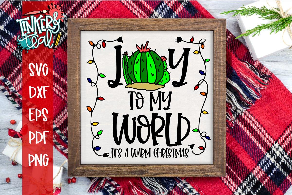 Joy To My World Funny Christmas Cactus SVG example image 1