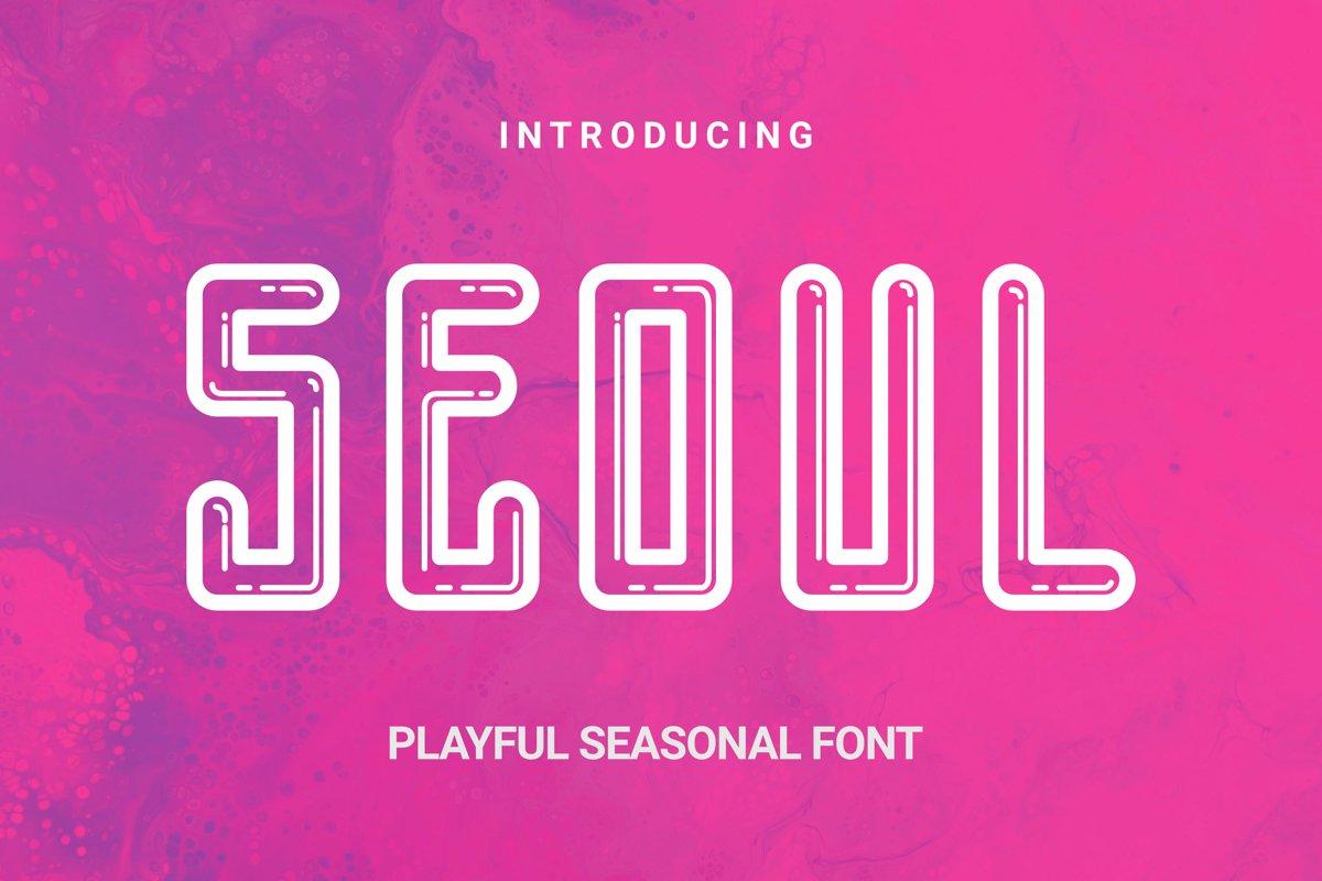 Seoul Font example image 1