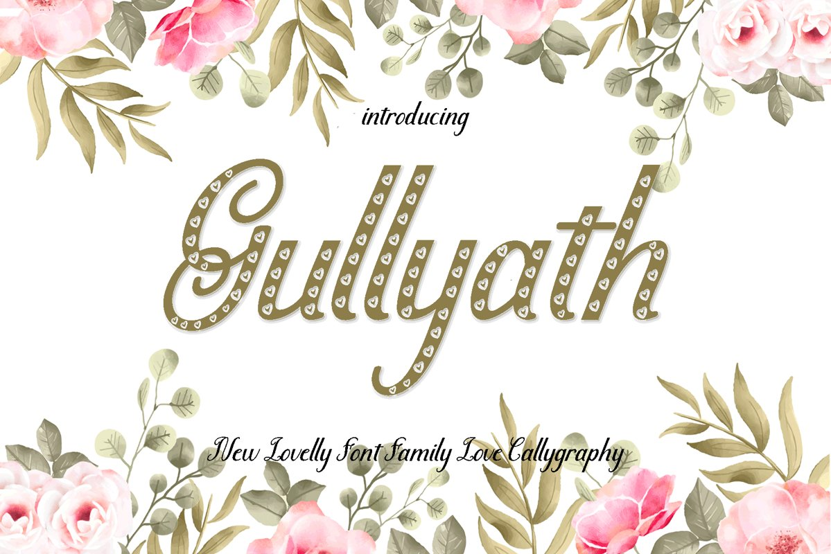 Gullyath,font duo family love example image 1