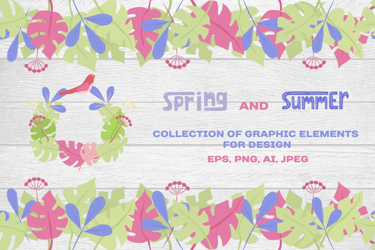 Spring and summer - set of graphic example image 1