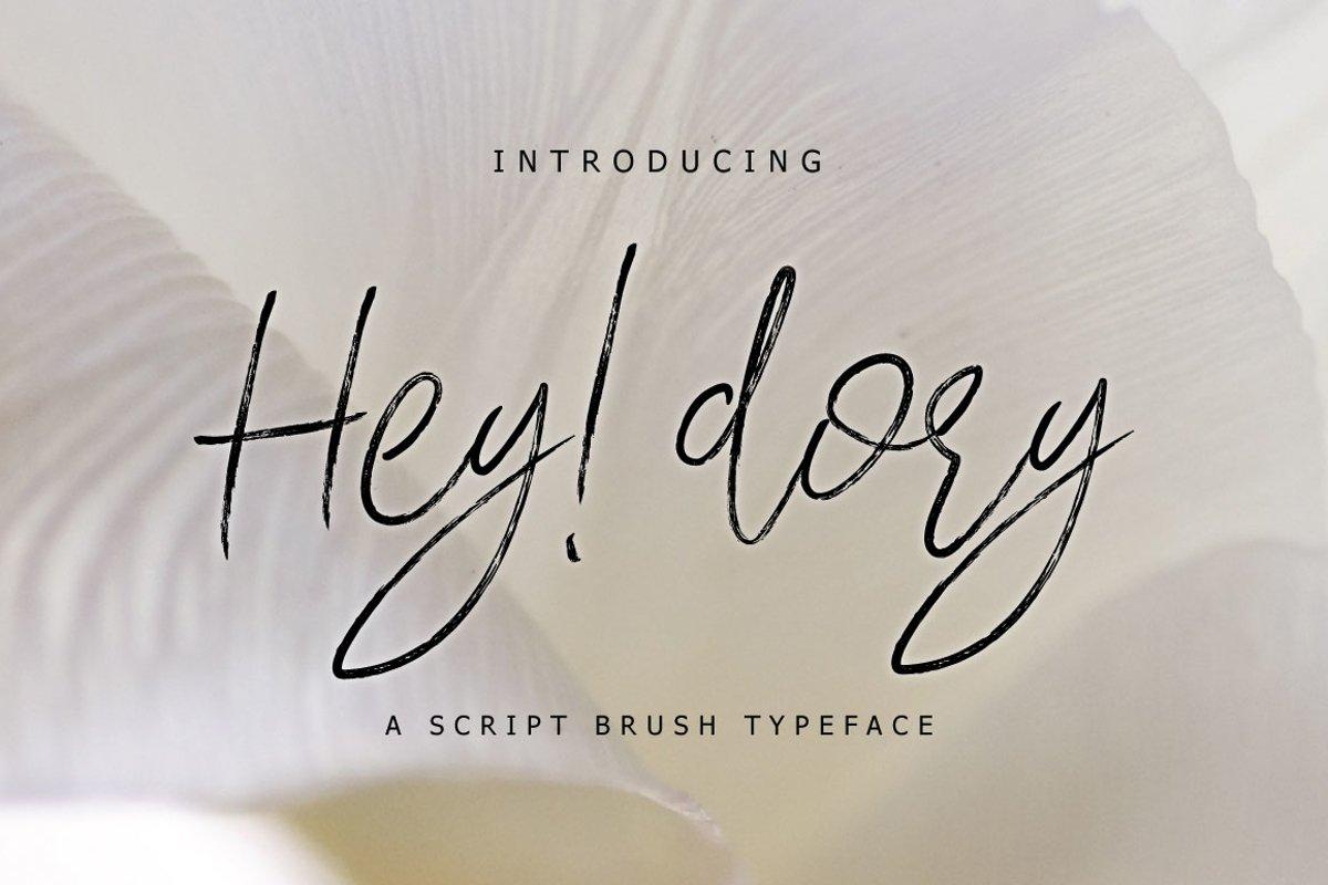 Hey Dory Typeface example image 1