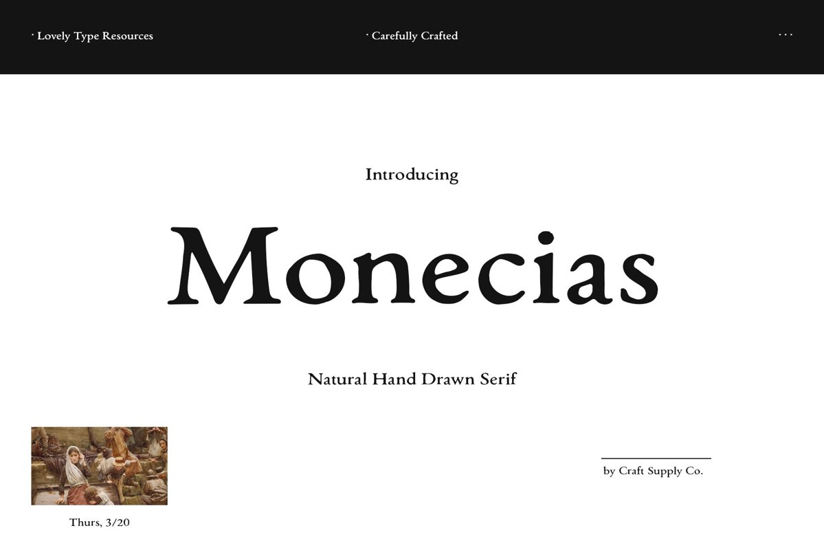 Monecias - Natural Hand Drawn Serif example image 1