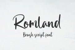 Romland - Handbrush Font Product Image 1