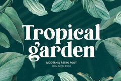 Tropical Garden font Product Image 1