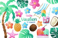 Vacation Watercolor Cliparts Product Image 1