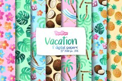 Vacation Digital Papers Product Image 1