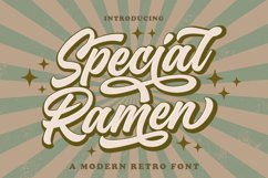 Special Ramen - Modern Retro Font Product Image 1