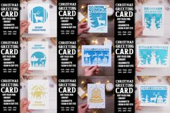 9 Christmas greeting cards SVG template,Merry Christmas card Product Image 1