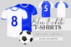 Watercolor football shirt png clipart, fathers day clip art Product Image 1
