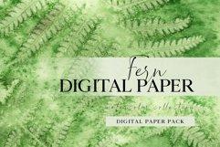 Forest fern digital paper, summer scrap book paper 12x12 Product Image 1