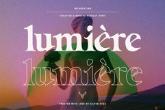 Lumière - Modern Display Serif Font Product Image 1