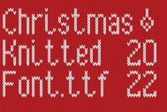 Christmas Knitted Font Version 3.0 Product Image 1