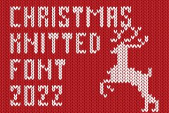 Christmas Knitted Font Ol Product Image 1