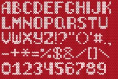 Christmas Knitted Font Web Product Image 1